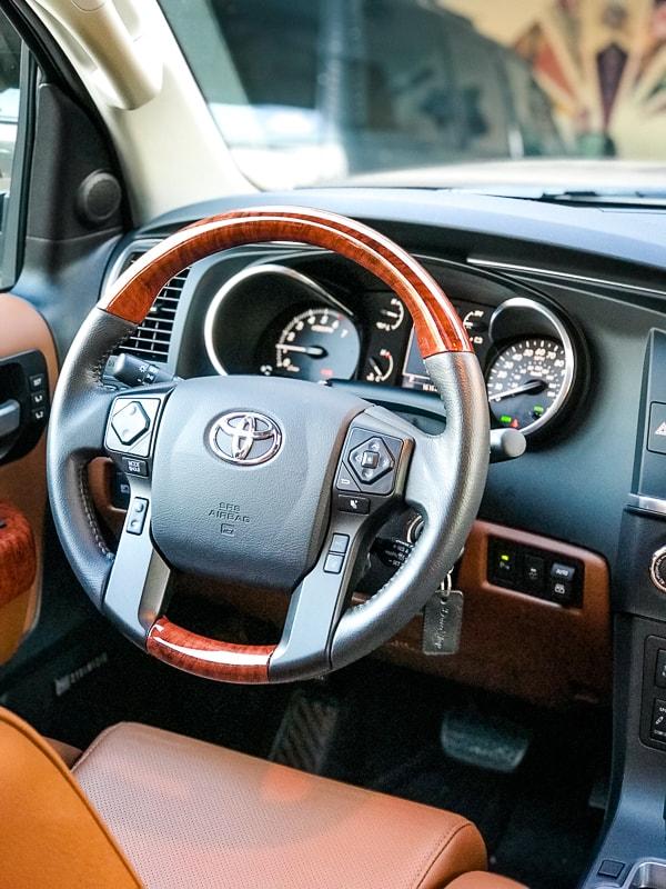 Interior Driver's Side of 2019 Toyota Sequoia Platinum.