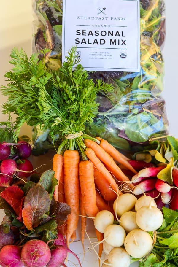 Produce from Steadfast Farm, Mesa, AZ.