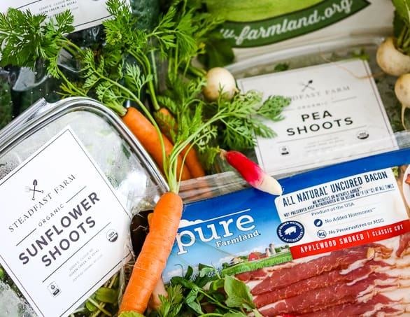 Farmland Pure Bacon and produce from Steadfast Farm.