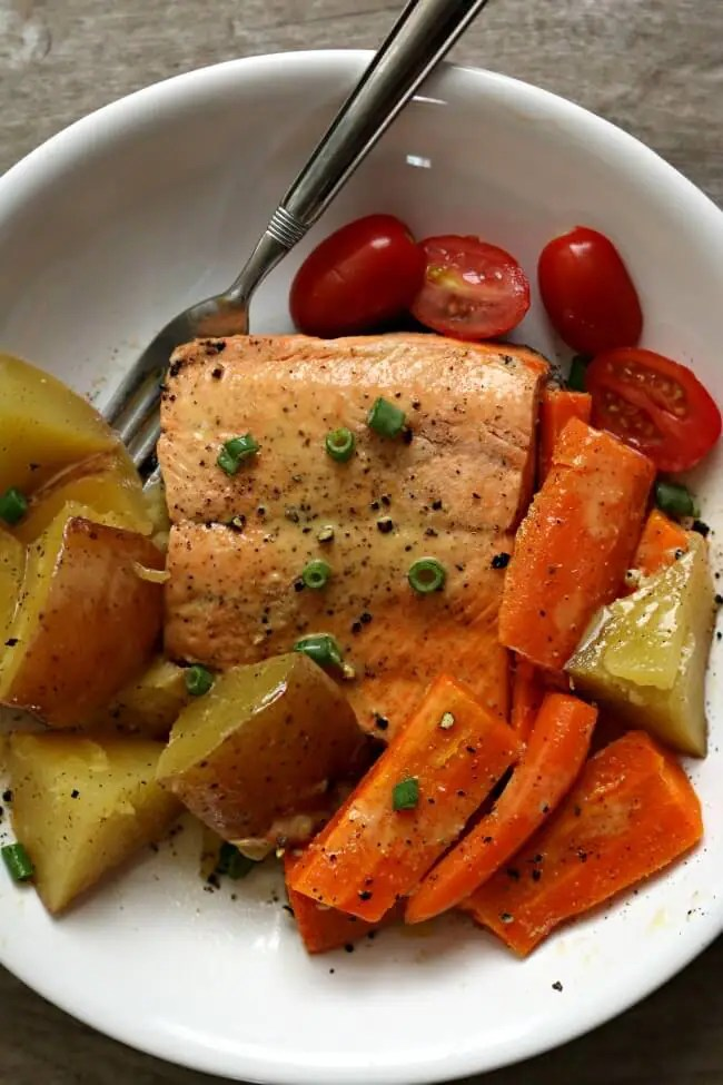 Instant Pot Salmon and Vegetables