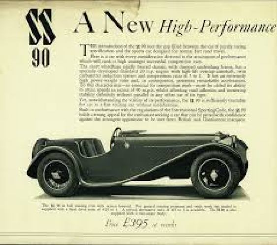 William Lyons announced the sensational SS90 and SS100 sports cars, setting a tone of value, looks and performance which would continue through the XK120 and E-type. At launch the 3,5 litre version cost £395 and the 3.5 litre £445, making it the cheapest 100 mph car available at the time