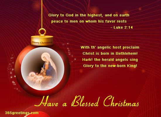 Glory To God In The Highest Religious Christmas Card From