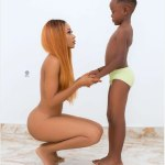 Actress Takes Nude Photo With Son On His 7th Birthday
