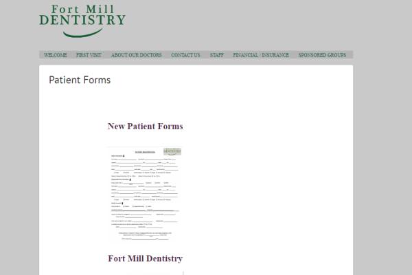 Fort Mill Dentistry Portfolio