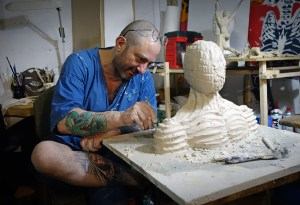 Australian Artist Marcus Encel in his Melbourne studio