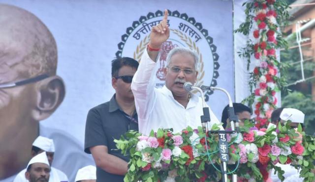 मुख्यमंत्री ने 'गांधी विचार पदयात्रा' के समापन पर विशाल आमसभा को किया सम्बोधित
