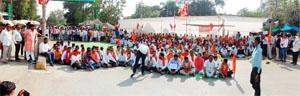 कवर्धा हिंसा के विरोध में विहिप ने धरना-प्रदर्शन कर निकाली रैली