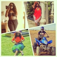 [Photos]: Toolz Shows Off Toned Abs & Voluptuous Bod As She Marks Birthday In Marrakech, Morocco