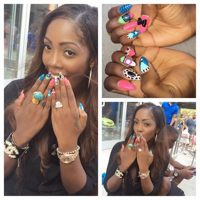 Tiwa Savage rocking her wedding ring in peace and joy when the going was good