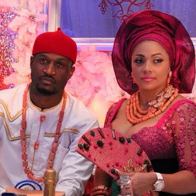 Image result for peter okoye and his wife