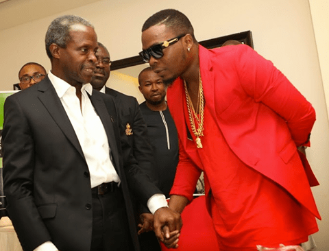 Olamide and APC VP Candidate Osinbajo