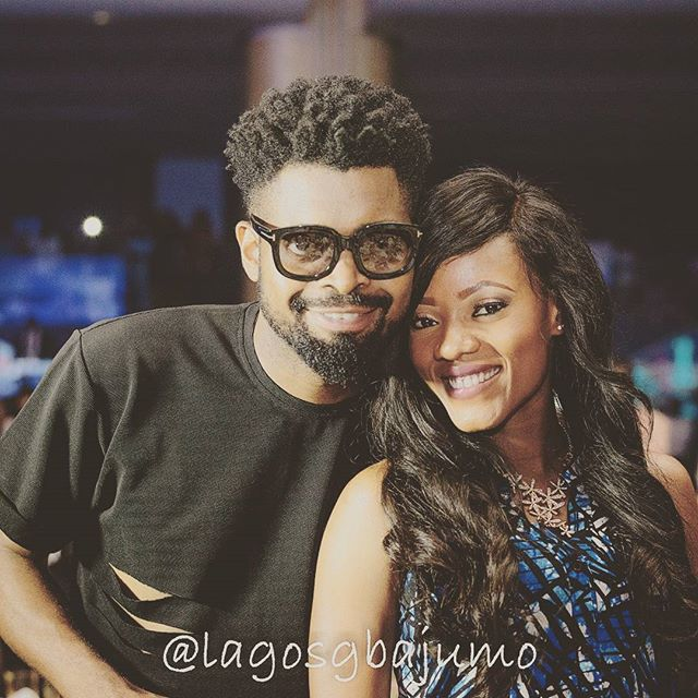 Basketmouth and Elsie Wife
