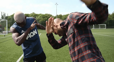 Paul Pogba & Childhood Idol, Thierry Henry Dab Together (Photos) (1)