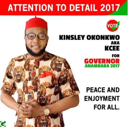 kee - ENTERTAINMENT: Anambra 2017: Singer KCEE Flags Off Ambition To Be Governor
