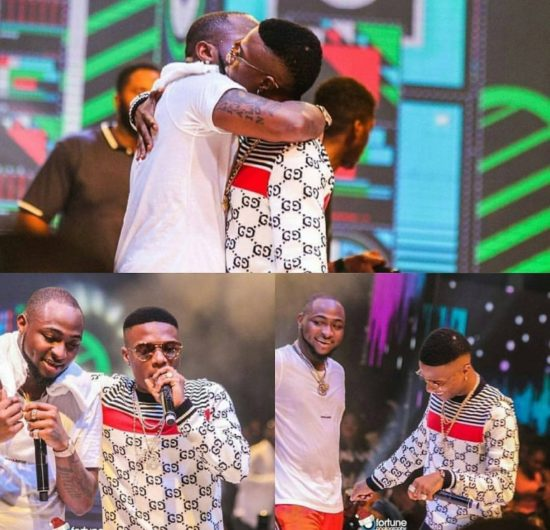 Image result for davido and wizkid perform manya in london