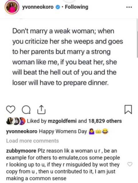Yvonne Okoro Reveals Why Men Should Marry Strong Women