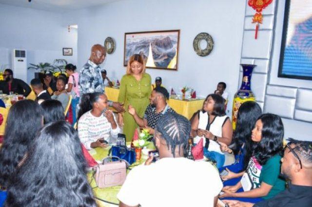 Regina Daniels Introduces Ex Boyfriend Somadina To Her Husband Nwoko