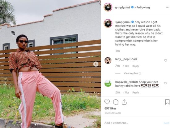 Simi Reveals The Only Reason She Got Married
