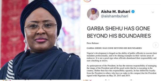 """Garba Shehu has gone beyond his boundaries!"" – First Lady, Aisha Buhari calls out his husband's spokesperson 1"