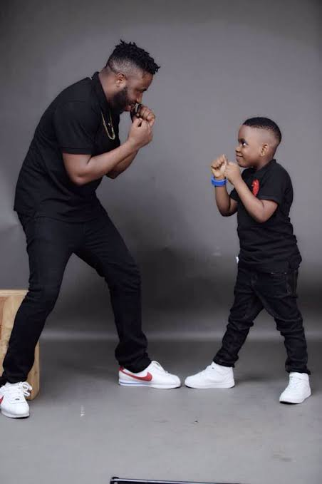 Samklef asks his 8years old son if he has a girlfriend; See his response (Photo)