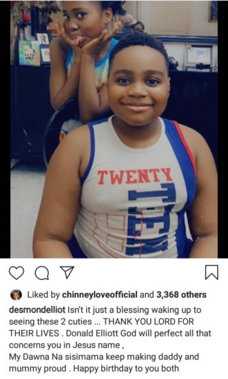 Desmond Elliot shares new photos of his twins to celebrate them as they turn 10 2