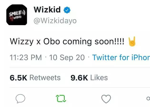 Viral tweet that claimed Wizkid is set to release a song with Davido is fake 2