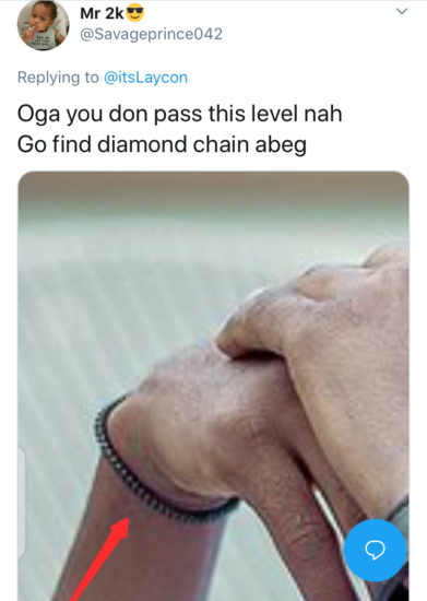"""""""Oga you don pass this level, get yourself a diamond wristband"""" – Troll drags Laycon on Twitter 3"""