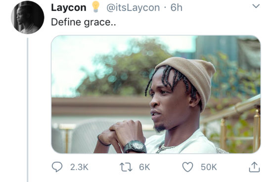 """""""Oga you don pass this level, get yourself a diamond wristband"""" – Troll drags Laycon on Twitter 2"""