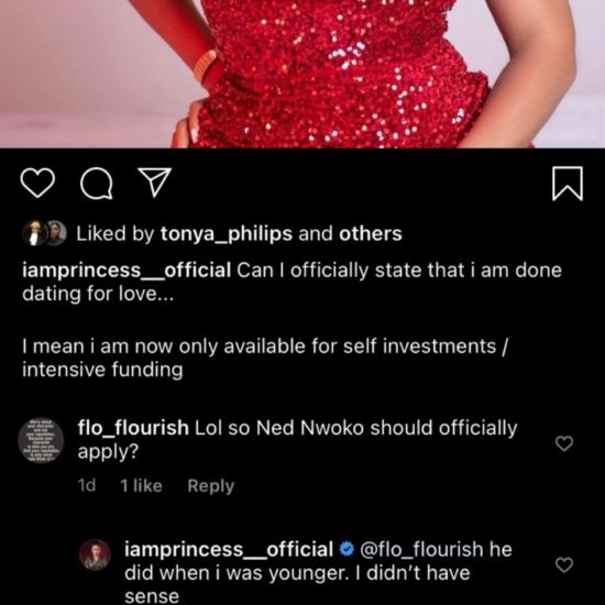 I rejected billionaire Ned Nwoko when I was younger because I didn't have sense — Reality TV star Princess 2