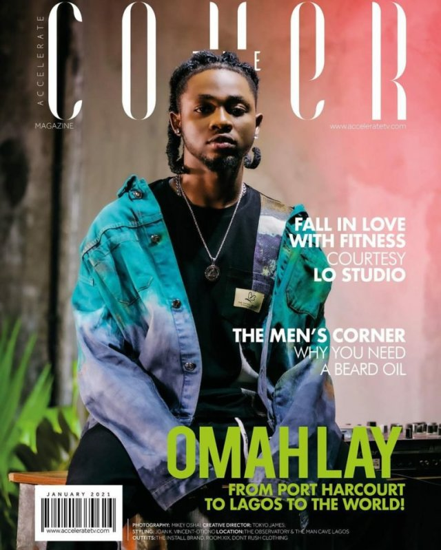 """From Port Harcourt to the World! Omah Lay shines on Accelerate TV's """"The Cover"""" January Issue 1"""