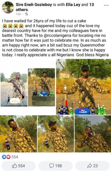 Soldier who celebrated his birthday with bread receives cake from RC Cola (Photos) 2