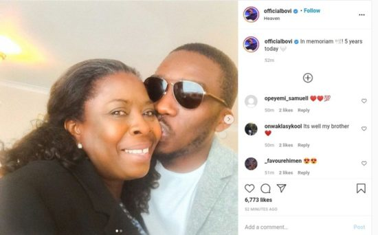Bovi Remembers His Mother 5 Years After Her Death (Photos) 2