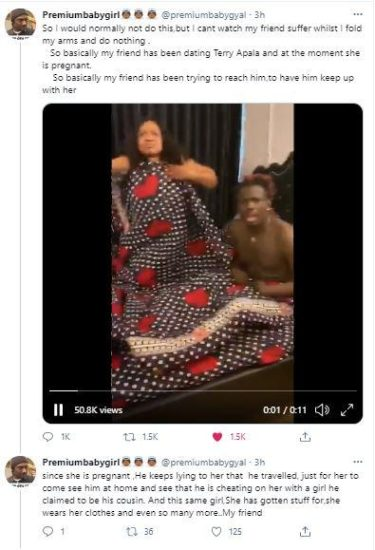 Singer, Terry Apala accused of cheating on his pregnant girlfriend 2
