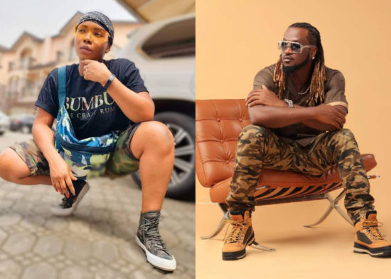 Snippet from recent video shoot shows Paul Okoye lamenting as Yemi Alade stoned him with objects 1
