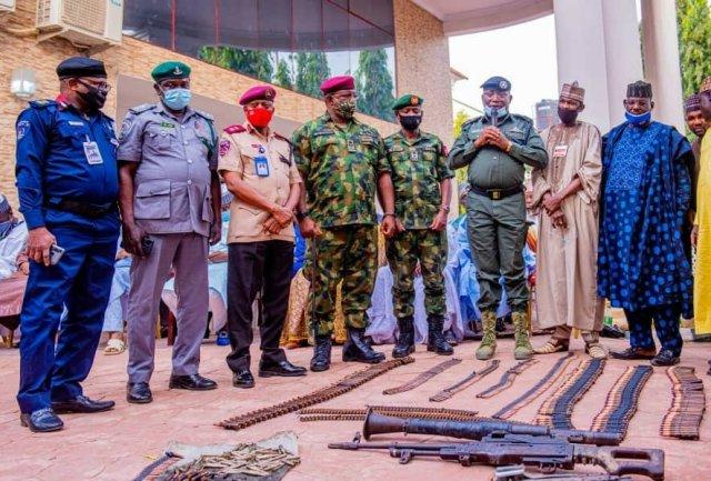Repentant bandits surrender their weapons in Zamfara 5
