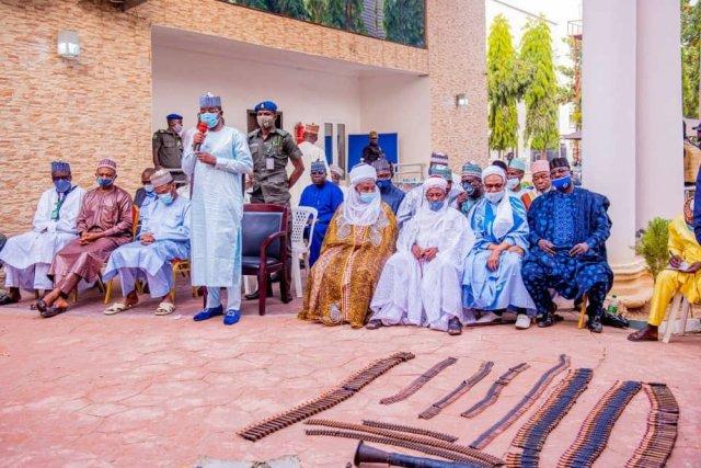 Repentant bandits surrender their weapons in Zamfara 1
