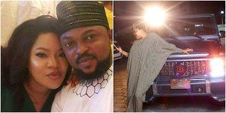 Toyin Abraham's hubby Kolawole reacts to her brand new Mercedes Benz Brabus 1