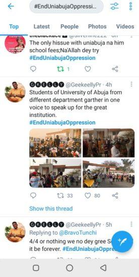 #Enduniabujaoppression: University of Abuja students on a peaceful protest (Pics) 6