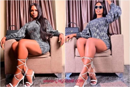 Kaisha shows off impressively toned legs 1
