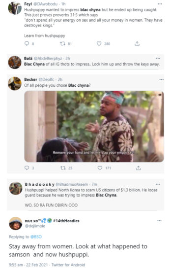 Nigerians gossip on Twitter about how Hushpuppi himself out while trying to impress Blac Chyna 3