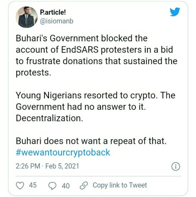 See How Everyone is Reacting to CBN's Ban on Cryptocurrency Exchange in Nigeria 4