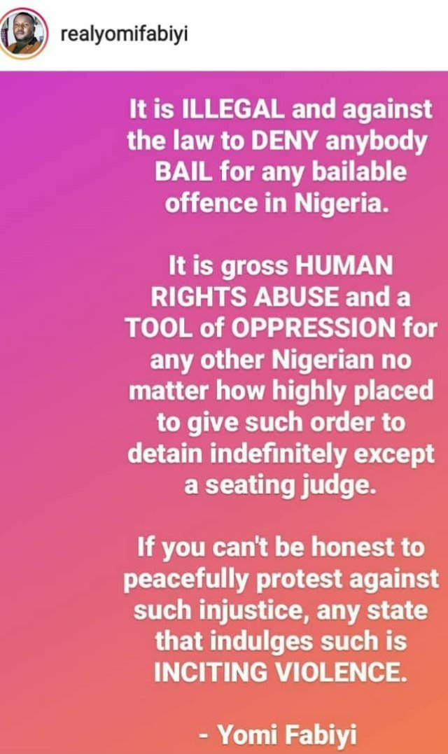 """""""Release Baba Ijesha on bail now. It is illegal to deny anyone bail""""- Yomi Fabiyi tells police 3"""