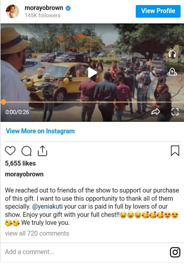 YourView TV Show Lovers Surprise Yeni Kuti With Brand New Car on Her 60th Birthday 2