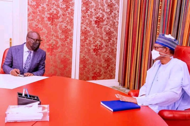 Governor Obaseki Speaks on Defection after Meeting with Buhari 1