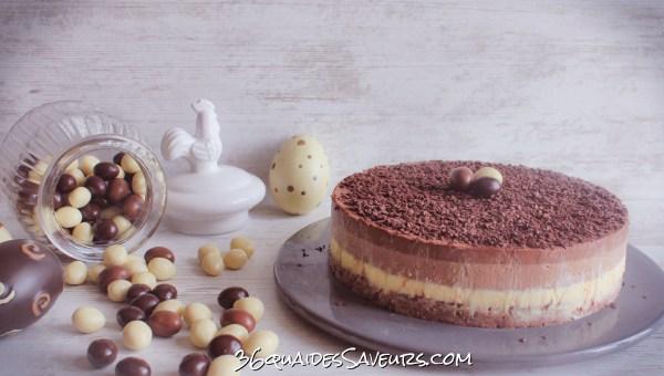 bavarois aux trois chocolats