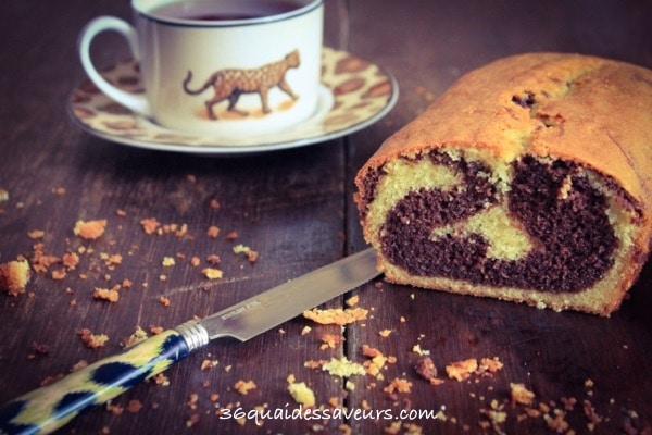 Cake marbré Vanille & Chocolat