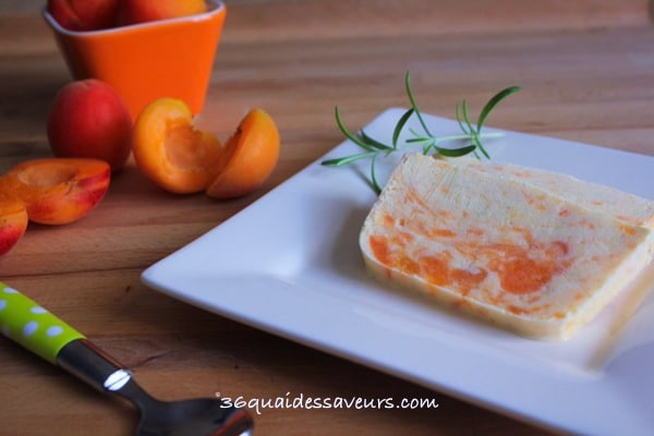 glace abricots, mascarpone et romarin