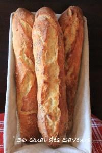 pain baguette sans petrissage magique