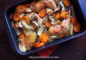 poulet roti aux clementines et à l'arak