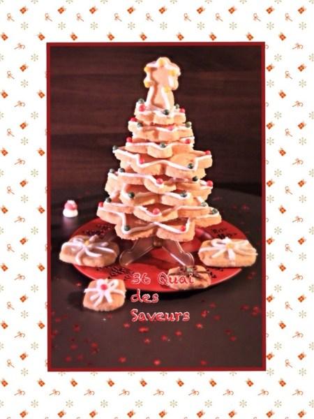 Sapin de Noël (Sablés à l'orange et à la cardamone)